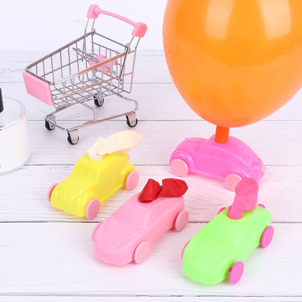 3pcs Children Gifts Aerodynamic Forces Inflatable Balloons Car Toy Funny Multi Color Inertial Power Reminiscent Balloon Car Toys