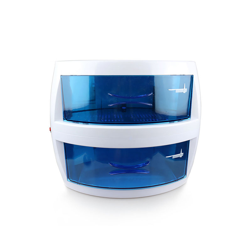 Beauty salon hairdressing shop nail disinfection tools double ultraviolet disinfection cabinet towel ultraviolet disinfector nail salon sterilizer hot air disinfection cabinet for hairdressing tattoo manicure tool in beauty spa