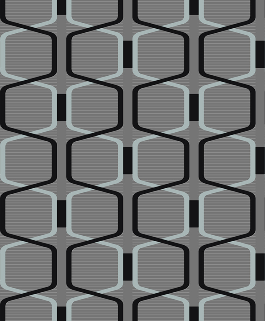 Designer Grey 3D Geometric Modern Velvet Wallpaper Textile Wallcoverings Roll Background Tv Wall Dark Gray Fine Flocked In Wallpapers From Home Improvement