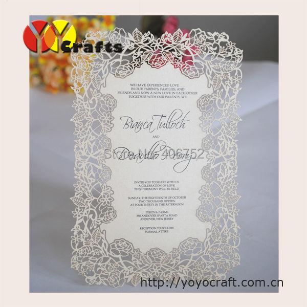 High Cl Black Vinge Wedding Invitation Cards Flower Laser Cut Custom Printing Envelopes Bridal Shower