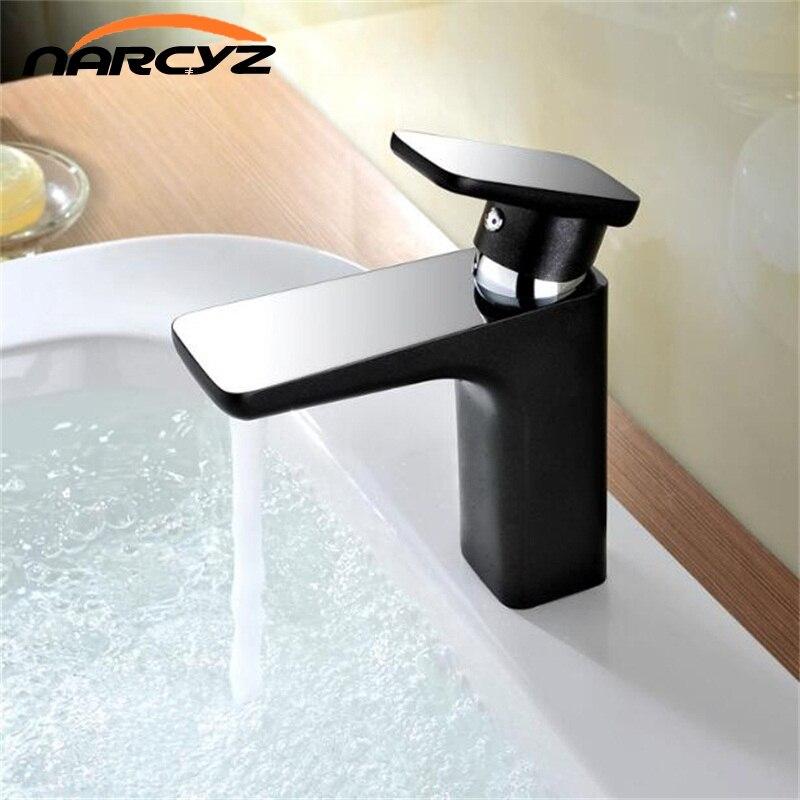 New Style Hot Sale Basin Faucet Soild Brass Chrome Cast 2 Platform short Color Orange Black