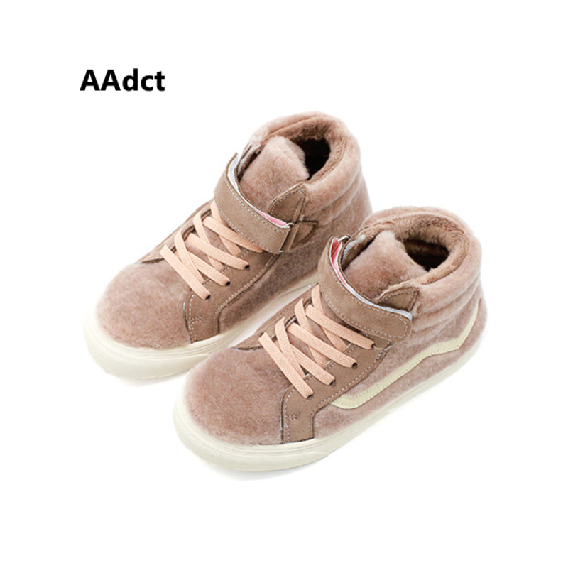 AAdct Cotton warm casual sports Children's shoes for boys New non-slip sneakers girls shoes 2018 Winter running kids shoes