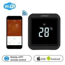 Цифровой регулятор температуры Электрическое отопление, Подогрев воды wifi термостат приложение контроль температуры AE-58-D сенсорный ЖК-экран