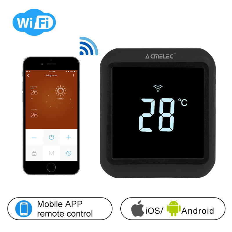 Digital Temperature Regulator Electric Heating, Water Heating WIFI Thermostat APP Control Temperature  AE-58-D Touch Screen LCD