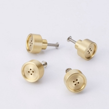 Modern Solid Brass Kitchen Cabinet Knobs Brushed Drawer Cupboard Gold Pulls Nordic Style-10Pack