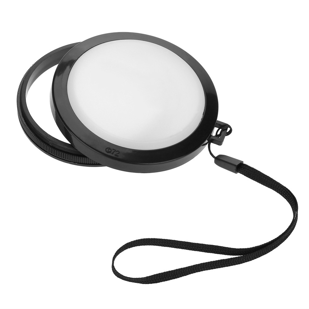Efficient New 72mm Universal Camera 18% White Balance Lens Cap Dustproof Protective Caps Accessory Products Are Sold Without Limitations