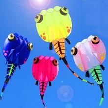free shipping soft tadpole kite nylon ripstop outdoor toys kites for adults octopus kite wheel albatross kite factory walk sky