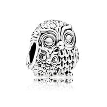 NEW Double Owl Head DIY Jewelry Charms Bead Fit Pandoraa Bracelet & Necklaces Pendant Authentic Beads Jewelry Making Women Gift(China)