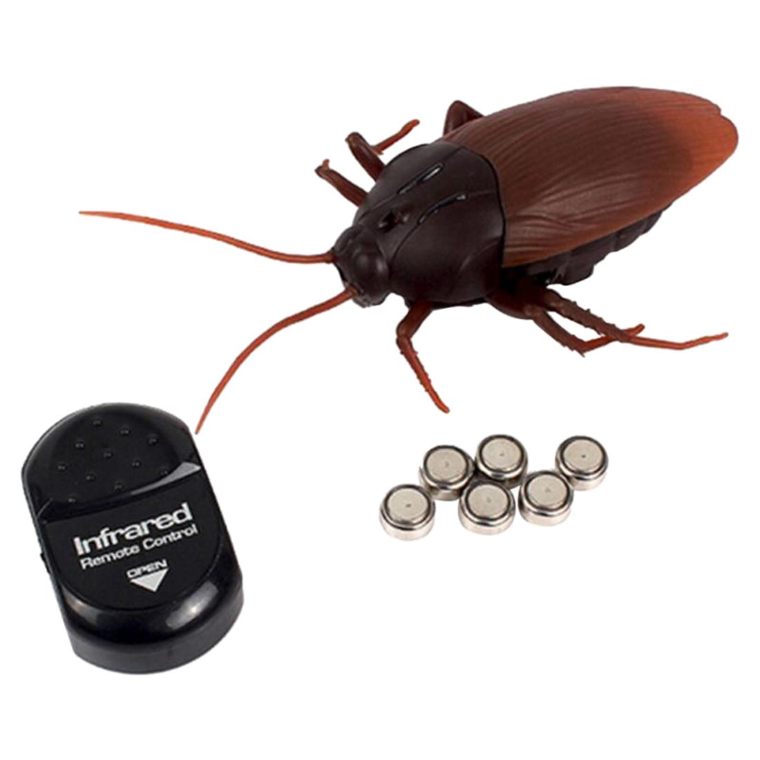 Horrible Pets Infrared RC Roach Cockroach Remote Control Fake Toy Insects Prank Joke Scary Trick Bugs For Halloween