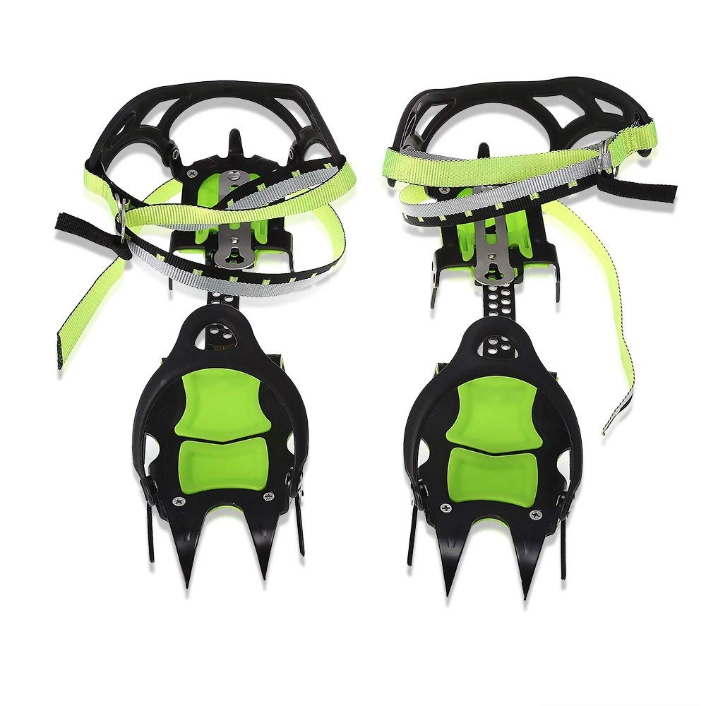 BRS 14 Teeth Claws Snow Leopard Crampons Shoes Non slip Cover Ice Gripper Outdoor Ski Ice Snow Hiking Climbing Long Teeth