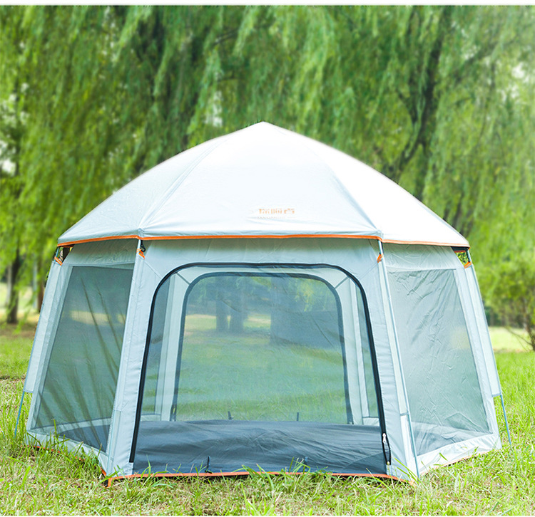 6 Person Camping Tent Backpacking Tents Hexagon Waterproof Dome Automatic Pop-Up Outdoor Sports Tent Camping Sun Shelters,zx-87
