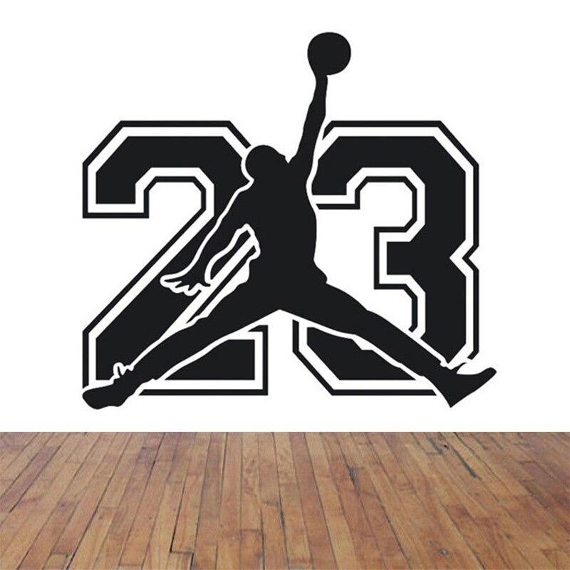 najnowsza kolekcja buty temperamentu ograniczona guantity US $6.15 12% OFF|POOMOO Michael Jordan koszykówka odtwarzacz naklejki  naklejki na słowa i cytaty dekoracyjne winylu, aby ściany Decor dla dzieci  ...