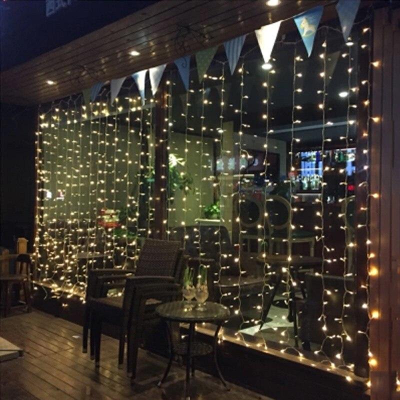 4.5 M x 3 M 300 LED Icicle Jeu de Lumières De Noël de noël Guirlande lumineuse Extérieurs pour La Maison Pour Le Mariage/Partie/rideau/Jardin DecorationEU/NOUS