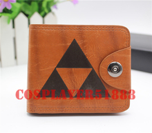 zelda wallet The Legend Zelda Link cosplay bifold brown Button purse