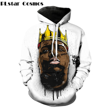 PLstar Cosmos 2017 New Fashion Women/Men 3d Hoodies Notorious B.I.G. jumper Biggie Smalls Character print Sweats Pullover Hoody