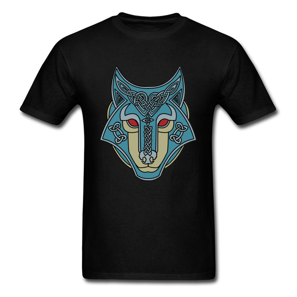 Runic Wolf T Shirt 3D Printed T-Shirts for Men Cotton Fabric Tshirt Black Cool Tops Leisure Tees Oversized Clothes Fathers Day