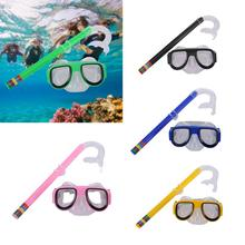 Diving Mask Scuba Underwater Snorkeling Women Men Kids Swimming Snorkel Equipment Goggles & Set