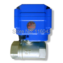 "heating electric valve BSP/NPT 1/2"" stainless steel valve DC3-6V  2/3/5 wires"