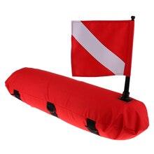 Bouée gonflable de flotteur de Signal de chasse sous marine de plongée sous marine avec la bannière de drapeau de plongée équipement de sécurité pour la plongée en apnée de plage de plongée libre