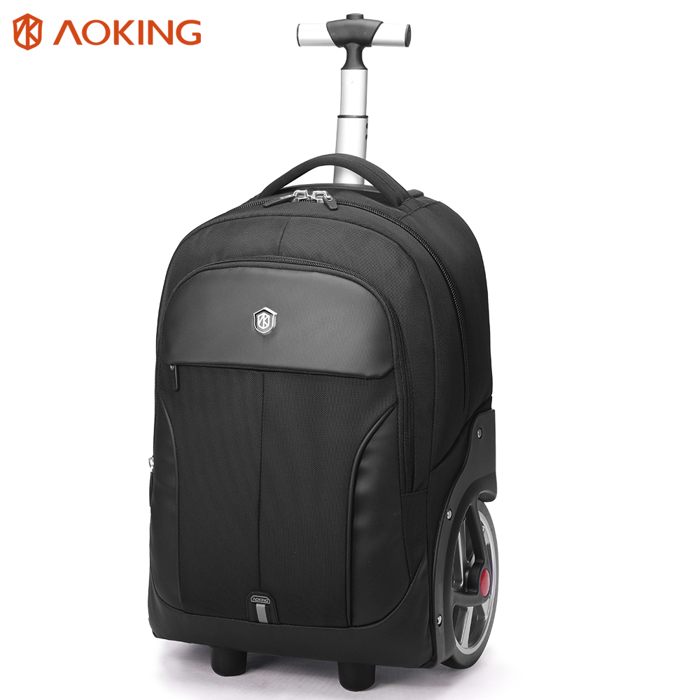 Aoking Men's ABS Trolley Luggage Travel Bags Large Capacity Trolley Bags Waterproof Carry-on Bags Business Trip Luggage
