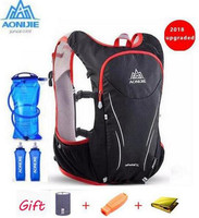 AONIJIE 5L Upgraded Women Men Marathon Hydration Vest Pack Cycling Hiking Bag Outdoor Sport   Running   Upgraded Backpack