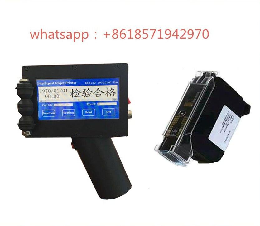 Handheld smart inkjet printer Carton woodworking board PVC plastic inkjet printer Date batch number printer for sale