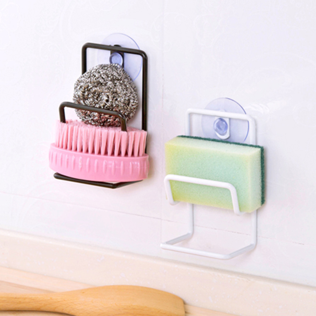 New Style Kitchen Suction Cup Sink Rack Double Layer Iron Sucker Draining