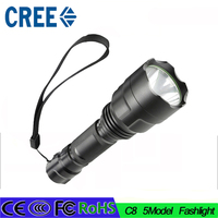 5 Mode CREE XM L T6 LED C8 Flashlight High Power 3800 Lumen Torch Lamp Light