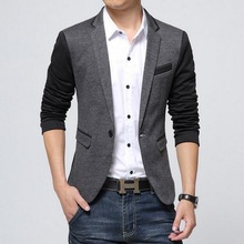 2019 new VXO Men Blazer Cotton Slim Blazer Masculino Male Suits Jacket
