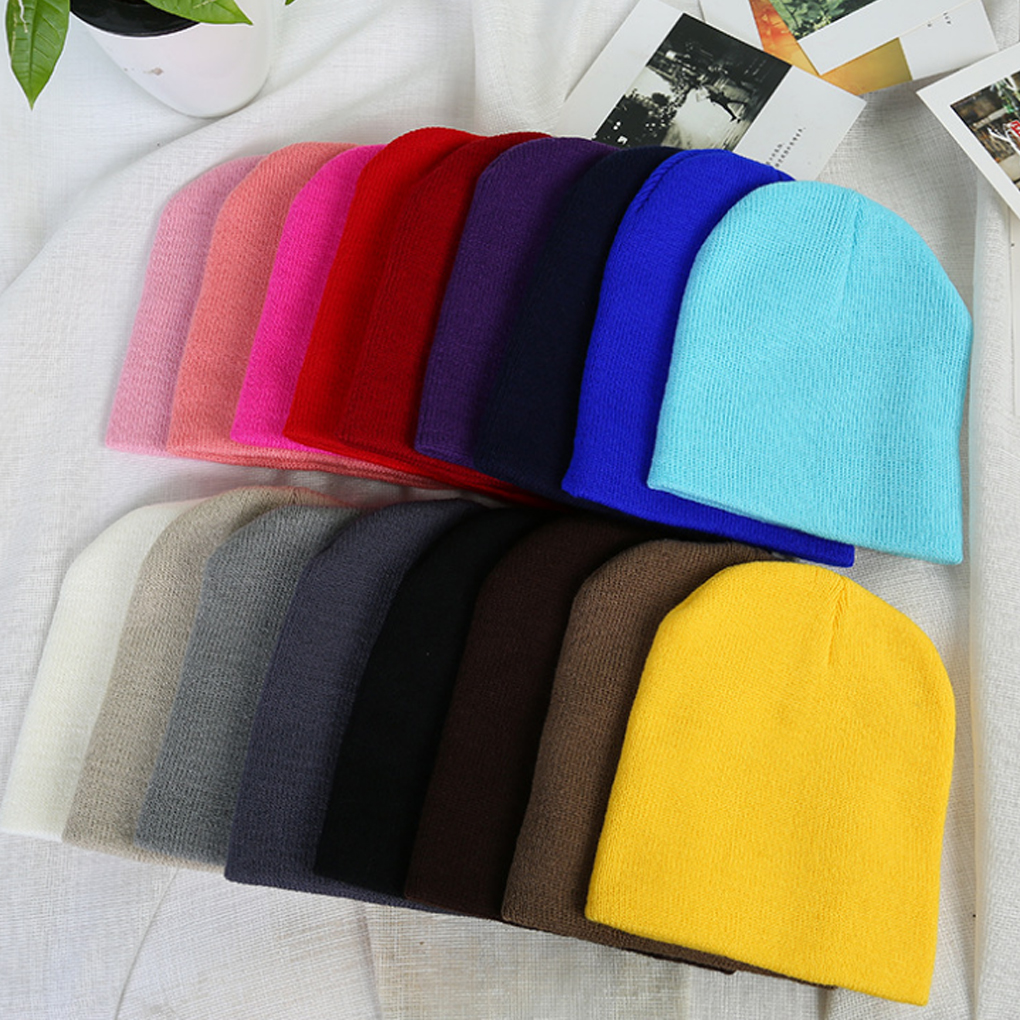 1Pcs Print Cartoon I Love Mama Papa Baby Hat New Spring Autumn Baby Knitted Warm Cotton Beanie Hats For Kids Girl Boy