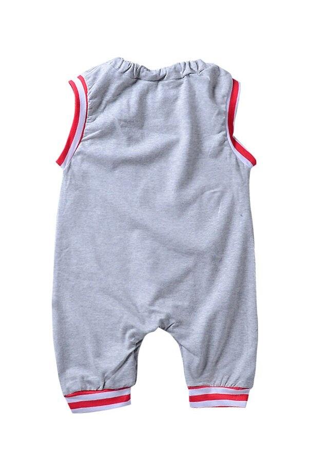 Baby Babykleding Mouwloze Glazen Gestreepte Romper Cartoon Jumpsuit - Babykleding - Foto 3