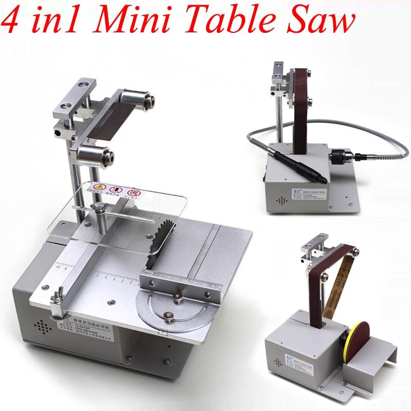Small Table Saw Micro Chainsaw Multi function Mini Cutting Machine Diy Woodworking Saws Precision Desktop Cutting Table Saw