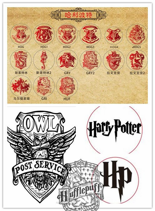 Hot Harry Potter Hogwarts school badge wax seal stamp Metal head,DIY Scrapbooking copper Vintage /Gryffindor /Slytherin/Malfoy details about vintage harry potter ravenclaw hawk eagle school badge wax seal stamp kit set