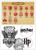 Hot Harry Potter Hogwarts School Badge Wax Seal Stamp Metal Head DIY Scrapbooking Copper Vintage Gryffindor