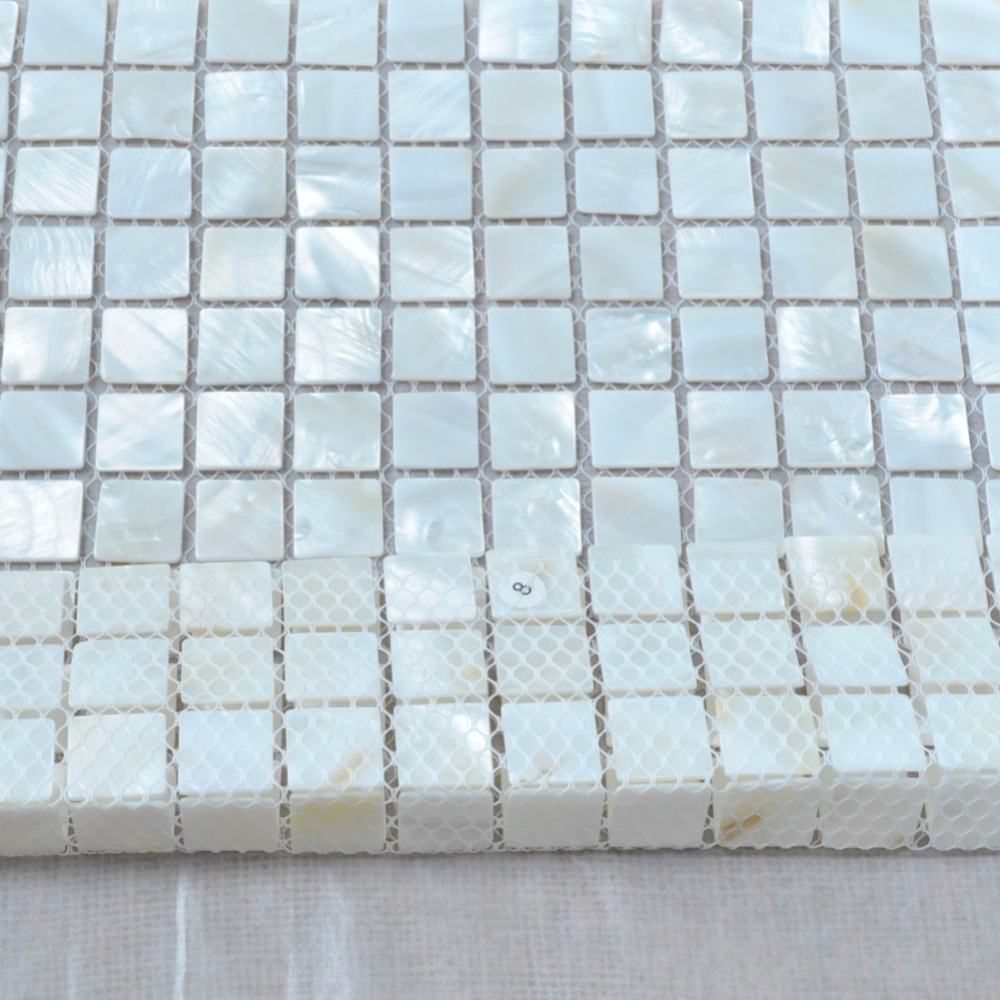 Oyster Mother of Pearl Square Shell Mosaic Tile for Kitchen ...