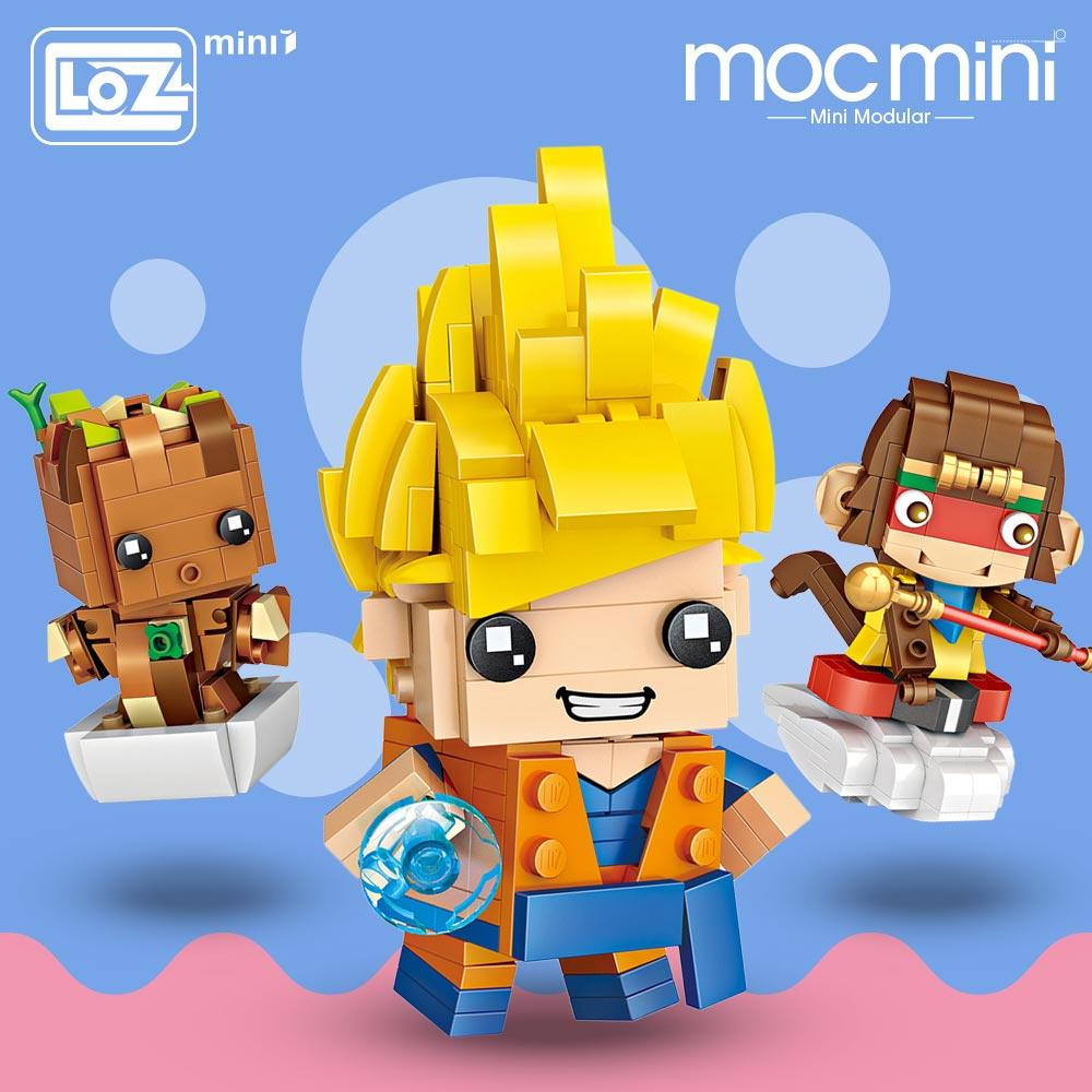 LOZ Mini Blocks Building Bricks Assemble Figures Educational Toys For Children Gift Kids Animal DIY Moc Super Heroes Heads Kids