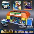 En-Stock LEPIN 16004 2232 Unids Los Simpsons El Kwik-e-mart Modelo Building Blocks Compatible 71016 juguetes Para Los Niños