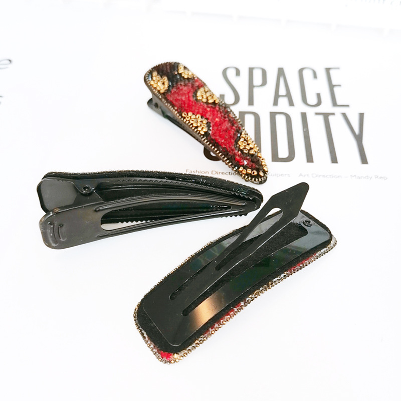 Leopard Rhinestone Super Flash Duckbill Clip Women Lady Girls Hair Clip Barrette Accessories Hairpin Hairgrip Headwear Headdress in Women 39 s Hair Accessories from Apparel Accessories