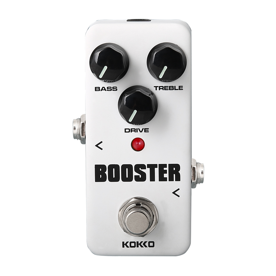 KOKKO FBS2 Mini Overdrive Booster Guitar Effect Pedal 2-Band EQ High-Power Tube Guitar Effect Device Ture Bypass kokko fbs2 mini guitar effect pedal guitarra booster high power tube electric guitar two segment eq effect device parts