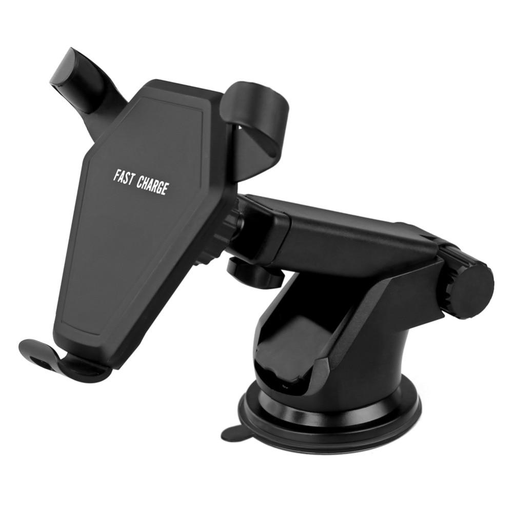 Support de voiture Qi Chargeur Sans Fil Pour iPhone X 8 Plus Rapide Rapide De Charge Pad Support De Voiture avec ventouse/ autocollants