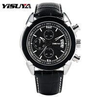Fashionable Chronograph Men Watches New Brand YISUYA Aviator Style Male Clock Day Date Quartz Watch Casual
