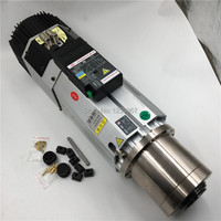 9KW 380V/ 220V ATC Spindle Motor 6.4Nm 22A Long Head ISO30/BT30 12000~24000rpm replace Italy HSD ATC Spindle CNC Machine