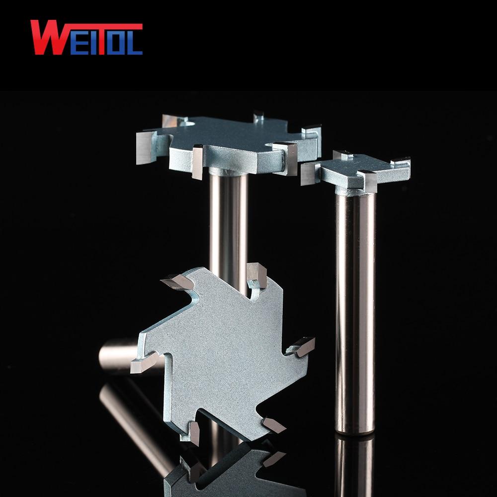 Weitol 1 pièces 1/2 pouces 6T bois routeur peu carbure de tungstène allonger T type cutter bois sculpture outils CNC outil peu