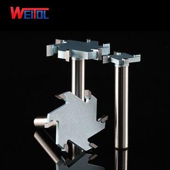Weitol 1 adet 1/2 inç 6 T ağaç İşleme yönlendirici bit tungsten karbür T tipi kesici ahşap oyma araçları CNC aracı bit