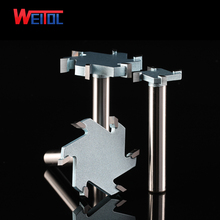 Weitol 1pcs 1/2 inch 6T woodworking router bit tungsten carbide T type cutter wood carving tools CNC tool bit стоимость