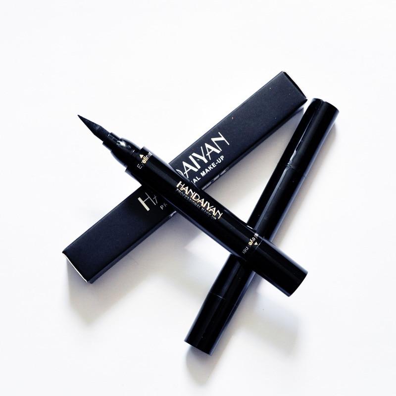 Waterproof HANDAIYAN Eyeliner pencil cosmetics double heads black color seal eyeliner 48pcs/lot DHL Free