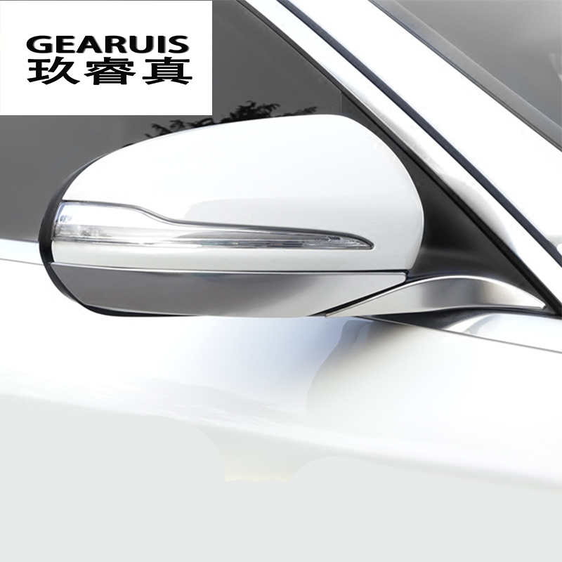 Car styling for Mercedes Benz C class W205 C180 <font><b>C200</b></font> rearview mirror frame door mirror cover trim accessories auto <font><b>sticker</b></font> image