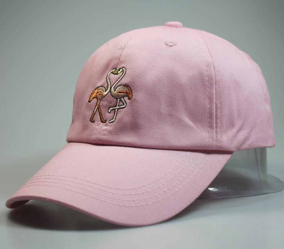 2018 Luxus Marke Baumwolle Flamingo Männer Hip Hop Hysterese Frauen Rosa Baseball Caps Männlich Hüte Gorras Weibliche Kappe Gorra Auf Dem Internationalen Markt Hohes Ansehen GenießEn