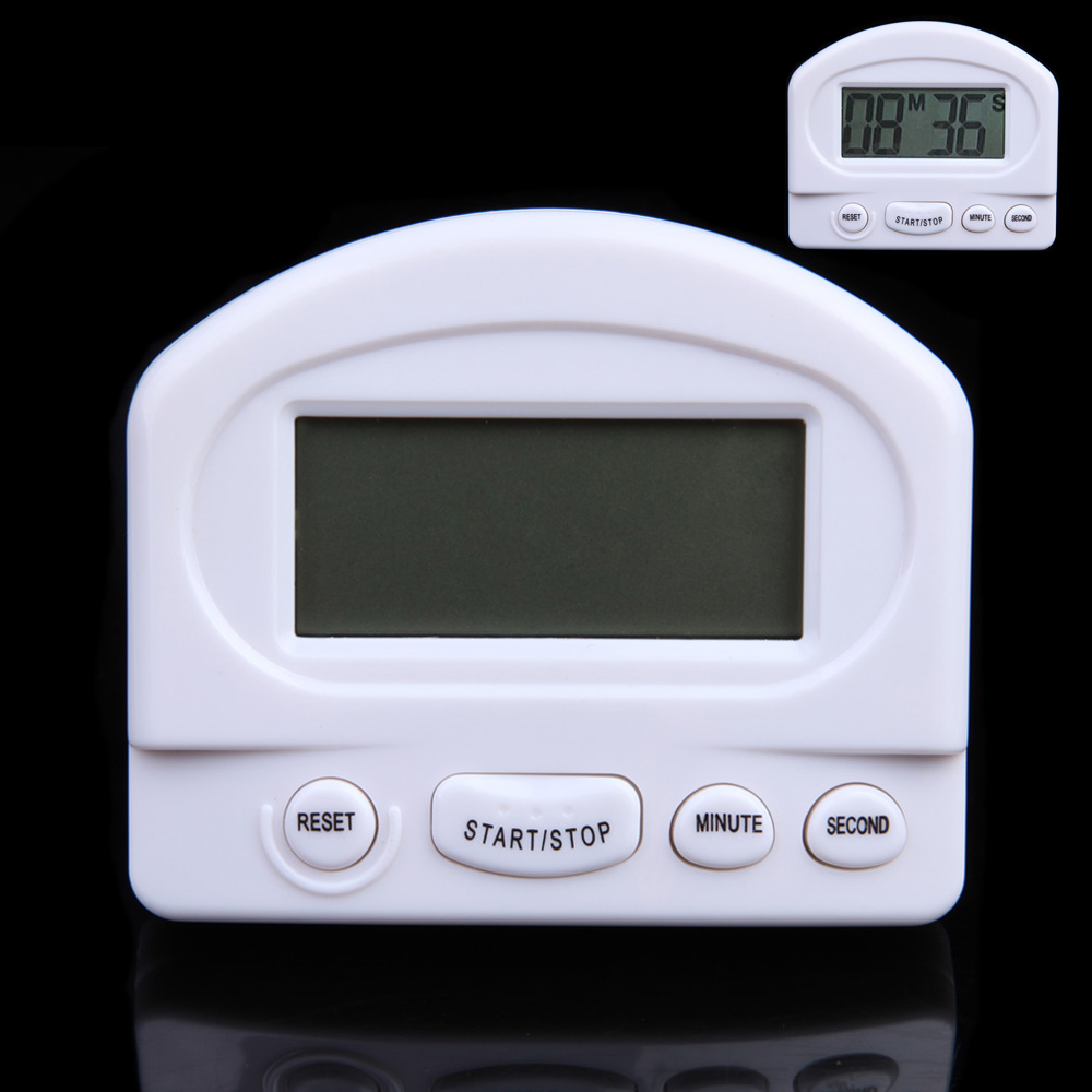 foxtrotstep 2015 Last Clearance New LCD Digital Count Up/Down Big Screen Electronic Timer Alarm Mini White Free Shipping