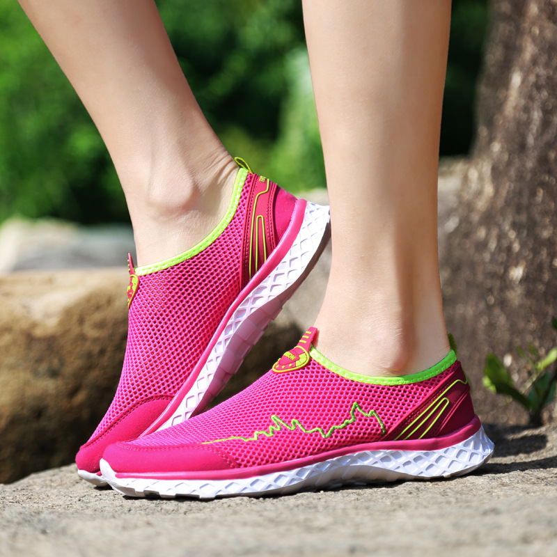 Hong Casual ash Mode Schuhe mei Frauen Sommer Hohl Powder Moonlight 2019 Neue slip Flache Nicht zq7EwnAxOt